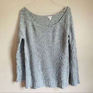 Hinge sz medium gray chunky knit oversized sweater